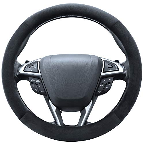 SEG Direct Beige Plush Winter Auto Car Steering Wheel Cover...