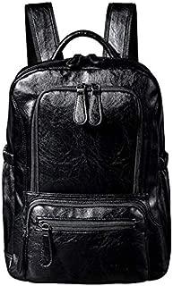 New PU Men's Backpacks Trendy Casual Large Capacity Student Backpacks Computer Travel Backpacks XGCCDAUU (Color : Black)