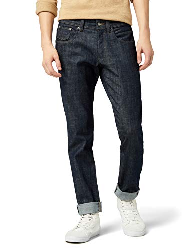 Mick Morrison Herren Stretch Jeans Senzo Raw Look Slim Fit, Schwarz (Dark Denim 116), W32/L32
