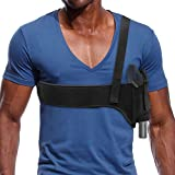 Shoulder Holster Under Arm Deep Concealment Universal Underarm Gun Holster for Men and Women for All Pistols Right and Left Hand Subcompact Compact Pistols Bodyguard Black