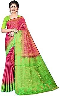 Neerav Exports Banarasi Kanjivaram Silk Traditional Jacquard Saree (Pink)