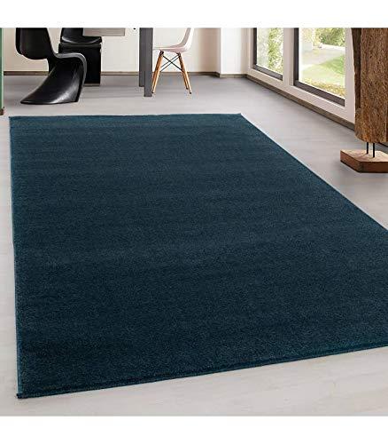 Carpettex Teppich Wohnzimmerteppich, kurz, modern, Farbe und Größe wählbar, türkis, 140 x 200 cm