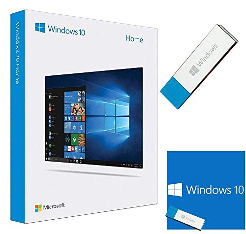 Windows 10 Home 64 bit / 32 bit | USB Flash Drive | English | Windows 10 OS Home 32 bit / 64 bit | 1 PC