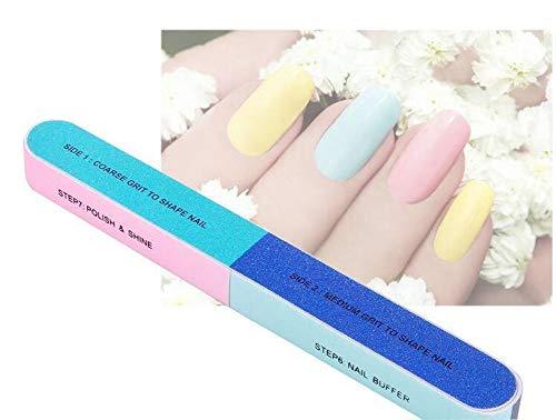 Lot de 10 lime à ongles et lime à ongles Cosmétique Manucure 7 Way Nail Art Bande de polissage à ongles polisseuse broyage Barre de limes pédicure Care DIY pour vos ongles et orteils