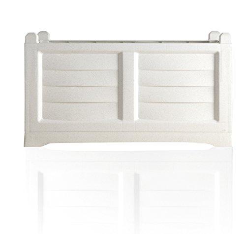 BAMA - Fioriera Arredo per esterno - colore bianco