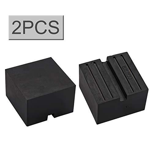 EXLECO (2 Stücke) Wagenheber Gummiauflage (75x75x50mm) für Rangierwagenheber und Universal Gummiauflage für PKW/SUV Robust und Praktisch Ideal für Auto Tuning