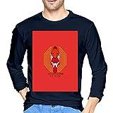 ブルームン Tシャツ 長袖 新世紀エヴァンゲリオン トレーナー シャツ 上着 ファッション カットソー S Navy 綿 メンズ レディース