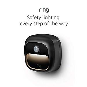 Ring Smart Lighting – Steplight, Battery-Powered, Outdoor Motion-Sensor Security Light, Black (Bridge required)