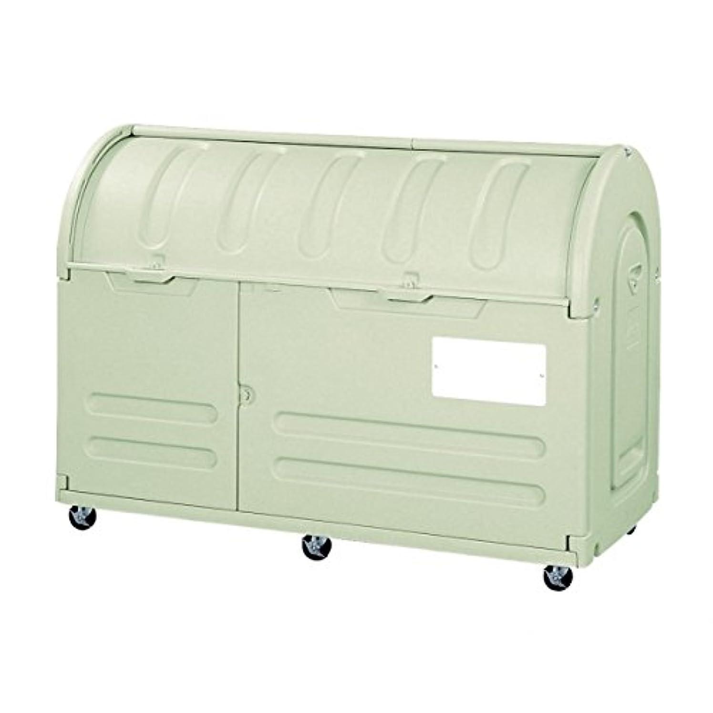 月曜水メイエラアロン化成 ステーションボックス #800C(キャスター仕様) 『ゴミ袋(45L)集積目安 17袋、世帯数目安 8世帯』 『ゴミ収集庫』 ウォームグレー