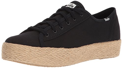 Keds Women's Triple Kick Jute Espadrilles Black in Size 42.5 M