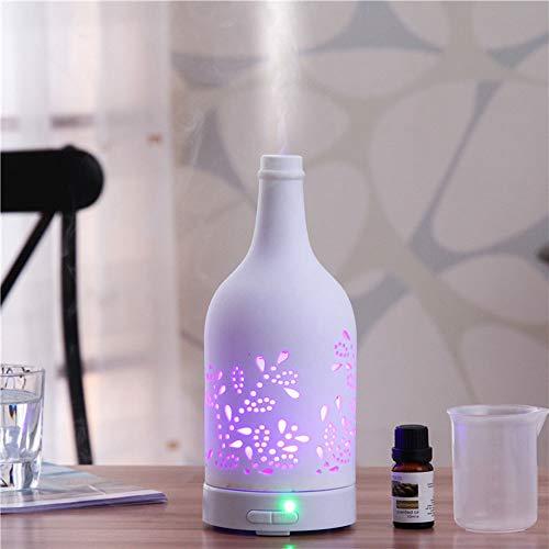 DKEE Hogar Dormitorio Oficina Silencio 100 Ml De Capacidad Tanque De Agua ABS Material Silencio Cubierta De Cerámica Luces De Siete Colores Audio Bluetooth Sincronización Inteligente Desabastecimiento