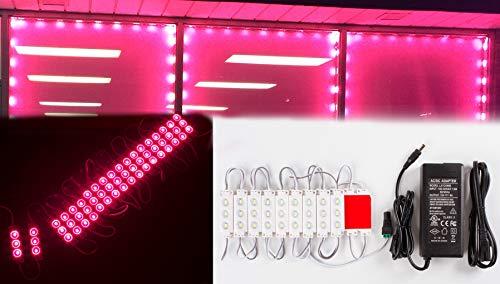 20m tienda Super Bright Magenta caliente módulo LED luz rosa 5630con UL 12V 3A AC Potencia