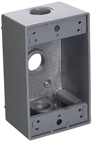 Greenfield B23PS Series Weatherproof Electrical Outlet Box, Gray
