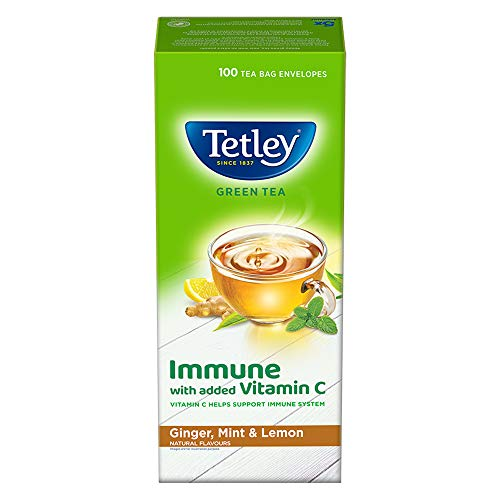 Tetley Green Tea Immune with Added Vitamin C, Ginger, Mint &...