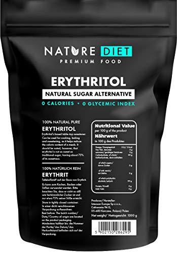 Nature Diet Erythritol, 2x 1000 g