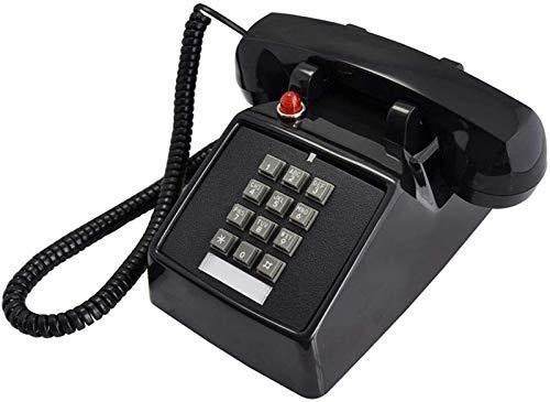 ZHAOH Línea Fija Retro Teléfono de Ajuste Retro (teléfono con Cable), Hotel Business Hotel Escaleras Corredor Fijo Fijo sin baterías Teléfono Decorativo (Color : Black)