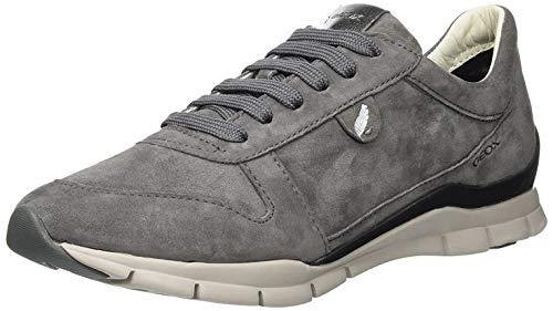 Geox Damen D Sukie A Sneaker, Grau (Dk Grey C9002), 39 EU