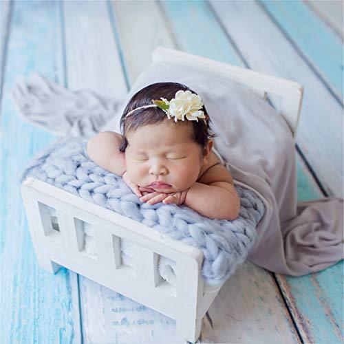 MASUNN Pasgeboren Baby Mini Houten Bed Afneembare Houten Fotografie Photo Prop Voor Schieten, Pink, 1