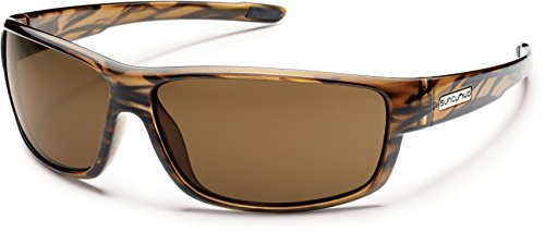 Suncloud Optics Voucher Polarized Sunglasses,BRWN Stripe/BRWN,One Size