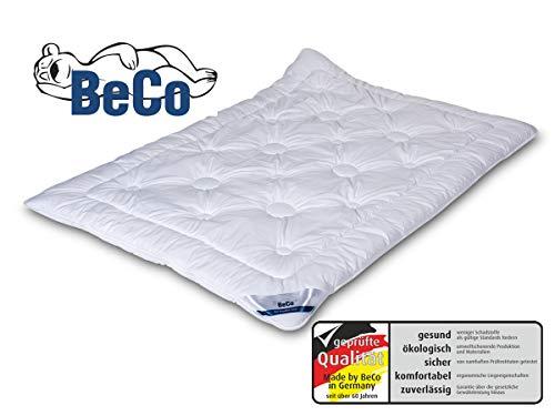 BeCo Royal Soft Microfaser Bettdecke, 135x200 cm, Mono (ganzjährig), sehr kuschelig durch Soft-Finish, Allergiker geeignet