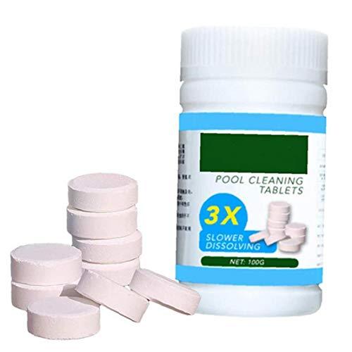Nicetruc Piscina de desinfección tabletas de Cloro para Piscinas efervescentes Los Comprimidos para Bañera de hidromasaje SPA Piscina del Agua de Limpieza