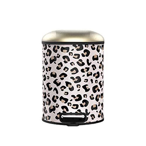 Aveo Cubo de Basura La Basura de Lata Redonda de Cierre Suave Cubo de Basura con Pedal Bar, con extraíble Interior Papelera for la Cocina, Oficina y Hogar Bote de Basura (Color : C 8L)