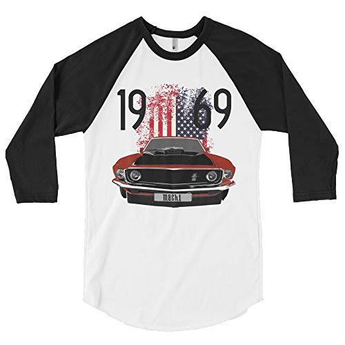 1969 Mustang Mach 1 3/4 Sleeve Raglan Shirt