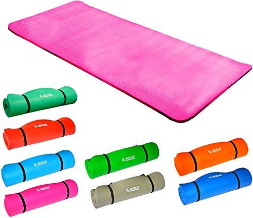 Hansson.Sports NBR Fitness Yoga Pilates Gymnastikmatte 183x80x1,5cm (pink)