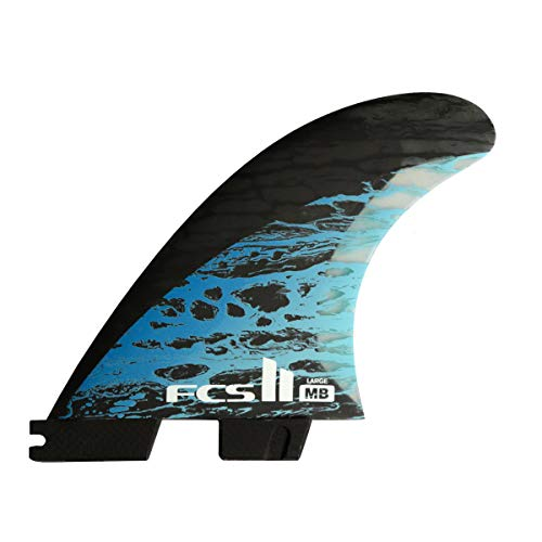 FCS II Matt Biolos PC Carbon Tri-Quad Fin Set Blue Large