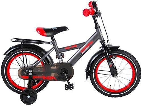 .Thombike Kinderfürrad Jungen Zoll mit Vorradbremse am Lenker und Rücktrittbremse, Stützr r Grau 95% Zusammengebaut