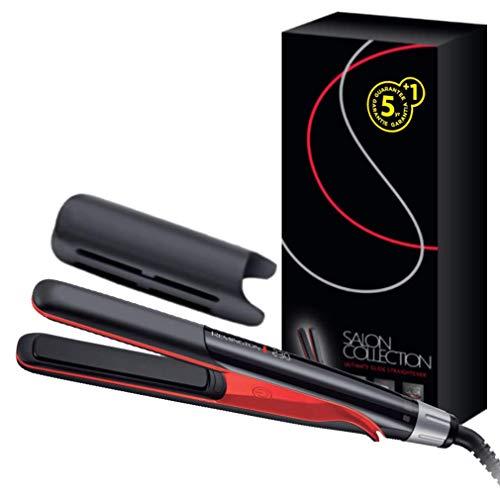 Remington Glätteisen [Friseur Profi] Haarglätter Salon Collection (Infrarot-Keramikheizelement für schnelle & gleichmäßige Hitze, hochwertige Ultimate-Glide-Keramikbeschichtung, LCD-Display) S9700