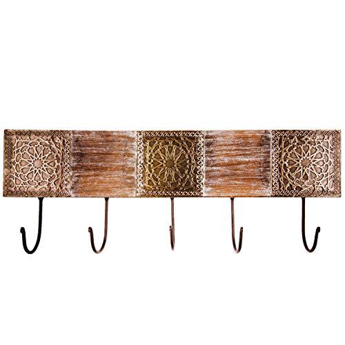Vintage perchero gancho amolika grande 50 cm Grande gancho | 5 ganchos gancho de pared para la pared o puerta | colgador perchero Ganchos de metal | Handtuchhaken el baño o cocina