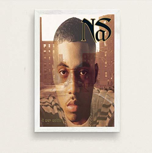zpbzambm Frameless Wall Painting 40X50Cm - Nas Illmatic Hot Music Album Rap Hip Hop Music Rapper Art Silk Painting On Canvas Wall Poster Home Decor Zp-2192
