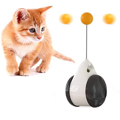 Bwelcam Katzenspielzeug, Interaktives Spielzeug für Katzen,Balance Schaukel Katzen Spielzeug mit Katzenminze,Katze Interaktive Spielzeug,Katzenspielzeug Interaktives Ball