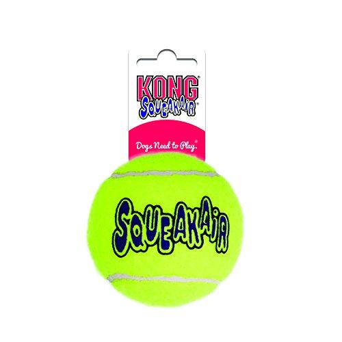 KONG - Squeakair Ball - Pelotas de Tenis sonoras Que respetan Sus Dientes - para Perros de...