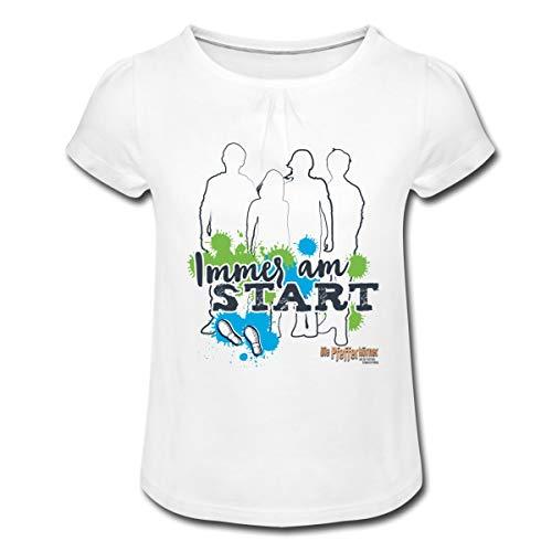 Pfefferkörner Immer am Start Mädchen T-Shirt mit Raffungen, 12 Jahre, Weiß