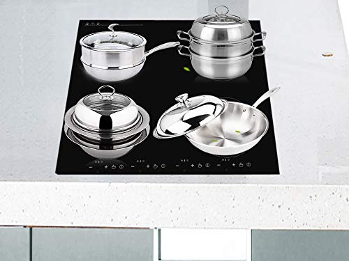 Cocina de inducción, cocina multifunción, cocina eléctrica empotrada, 4 cocinas