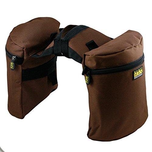 Trailmax Original - Alforjas para silla con cuerno - Equipaje para silla vaquera de cowboy - Marrón