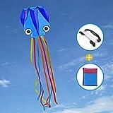Joy-Jam Juguetes para Muchachos 4-10 Años Niña Gran Pulpo Cometa para Niños y Adultos Juegos al Aire Libre Juguetes de Verano Colorida Regalos para Niños Cometa de Playa con Cuerdas Azul