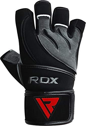 RDX-Gel Gewichtheben Bodybuilding Handschuhe Fitness Band Schulung Leder Schulung Gr. L - 3