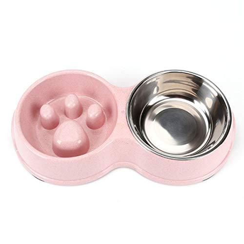 RONGXUE Kattenkommen, kleine en middelgrote hondenkommen, voedselgeschikte materialen, dierenbenodigdheden, hondenvoer, roestvrijstalen wastafels, Pink