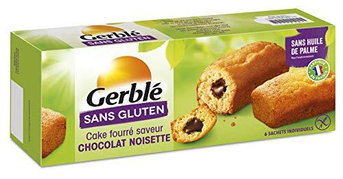 Gerblé Cake Fourré saveur chocolat, Sans gluten & Sans lactose, 6 cakes, 210 g, 202084