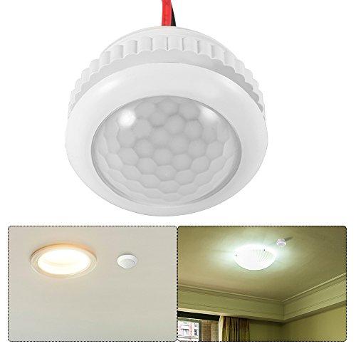 OurLeeme Smart PIR Rilevatore di sensori di movimento Interruttore automatico ON/OFF per luci a LED Lampada ad incandescenza