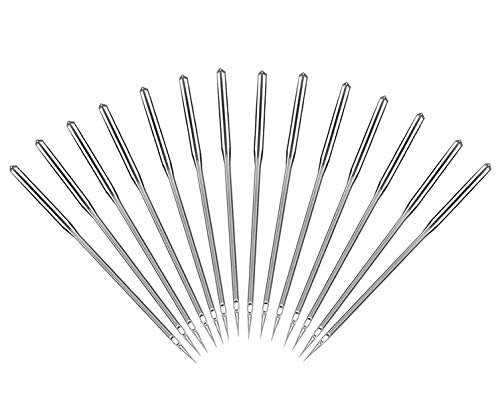 Sewing Machine Needles, 50 Count, Universal Regular Point for Singer, Brother, Janome, Varmax, Sizes 65/9, 75/11, 80/12, 90/14, 100/16