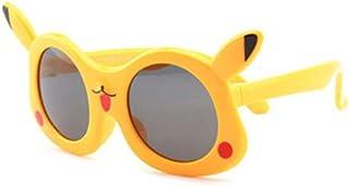 Diseño de Dibujos Animados Gafas de Sol para niños Marco de Gel de sílice Flexible Lentes polarizadas Protección UV400 Chicas y niños de 3 a 12 años con Caja de Regalo (Color : Amarillo)