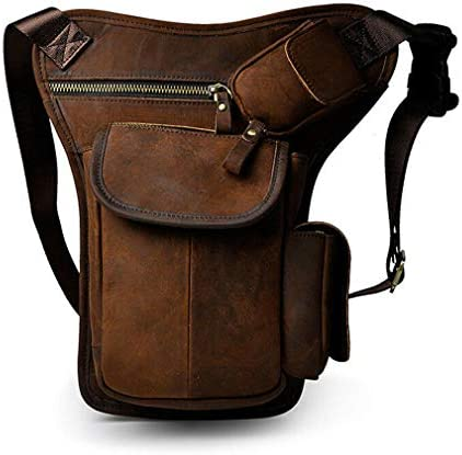 Hebetag Drop Leg Bag Leather Waist Pack for Men Women Travel Outdoor Sports Tactical Hiking product image