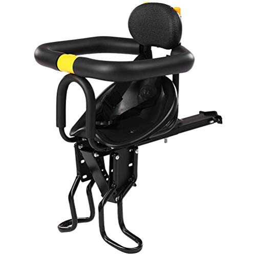 HEREB Accesorios Bicicleta Asiento de Bicicleta de Seguridad para niños Asiento Delantero para Bicicleta Asiento para niños con Pedales Soporte de Respaldo para Bicicleta de Carretera MTB