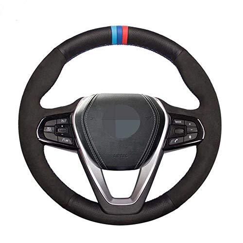 ZpovLE Cubierta del Volante del Coche Negro DIY, Apto para BMW X4 G02 X3 G01 X5 G20 G21 G30 G31 G32 G05 X7 G07 Z4 G29