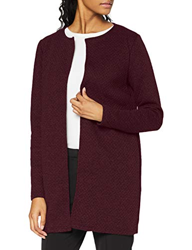 Vila Clothes Damen VINAJA New Long JKT Mantel, Rot (Winetasting Winetasting), 34 (Herstellergröße: XS)
