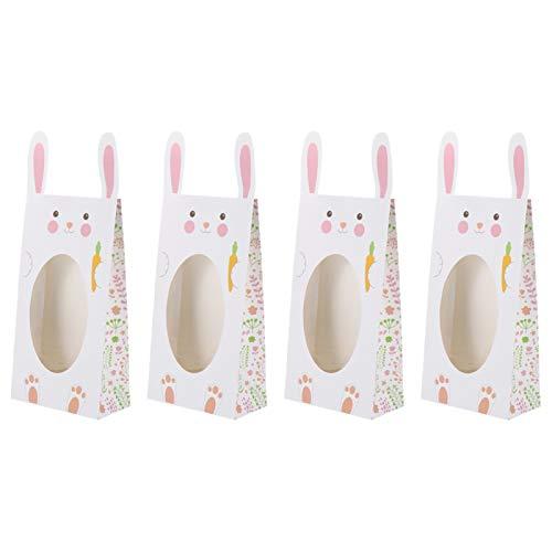 4ピースイースターウサギの形キャンディーバッグキャンディー貯蔵袋の実用的なギフトバッグ 素敵な装飾 (Color : As Shown)